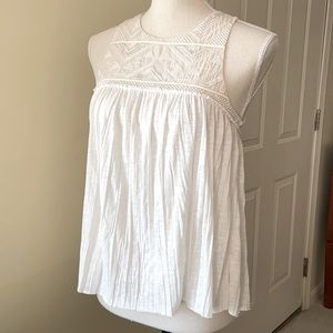 Semi-Sheer Embroidered Halter Top (NWT)